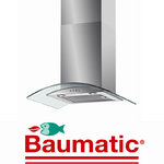 View Item Baumatic BWT6.3GL 60cm Stainless Steel Glass Cooker Hood