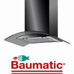 View Item Baumatic BT6.3BGL 60cm Black Steel Glass Cooker Hood