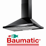 View Item Baumatic F90.2BL 90cm Black Steel Cooker Hood