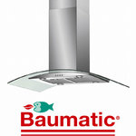 View Item Baumatic ISL5SS 90cm Stainless Island Glass Cooker Hood