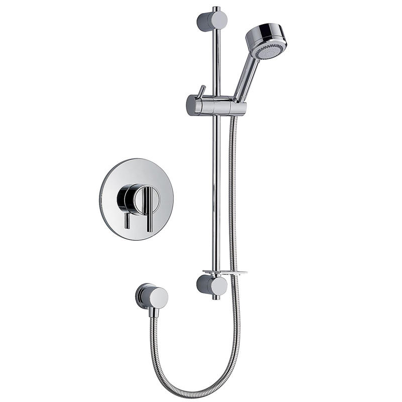 View Item Mira Silver BIV Chrome Thermostatic Built In Mixer Valve &amp; Shower Kit