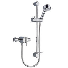 View Item Mira Silver EV Chrome Thermostatic Exposed Mixer Valve &amp; Shower Kit
