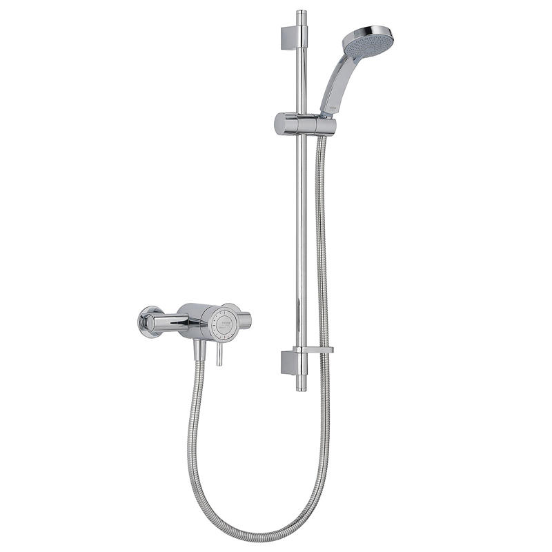 View Item Mira Element EV Chrome Thermostatic Exposed Mixer Valve &amp; Shower Kit