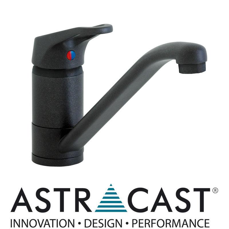 Black Kitchen Sink Taps Uk: Astracast Finesse Black Kitchen Sink Mixer Tap TP0484