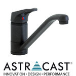 View Item Astracast Finesse Black Kitchen Sink Mixer Tap TP0484
