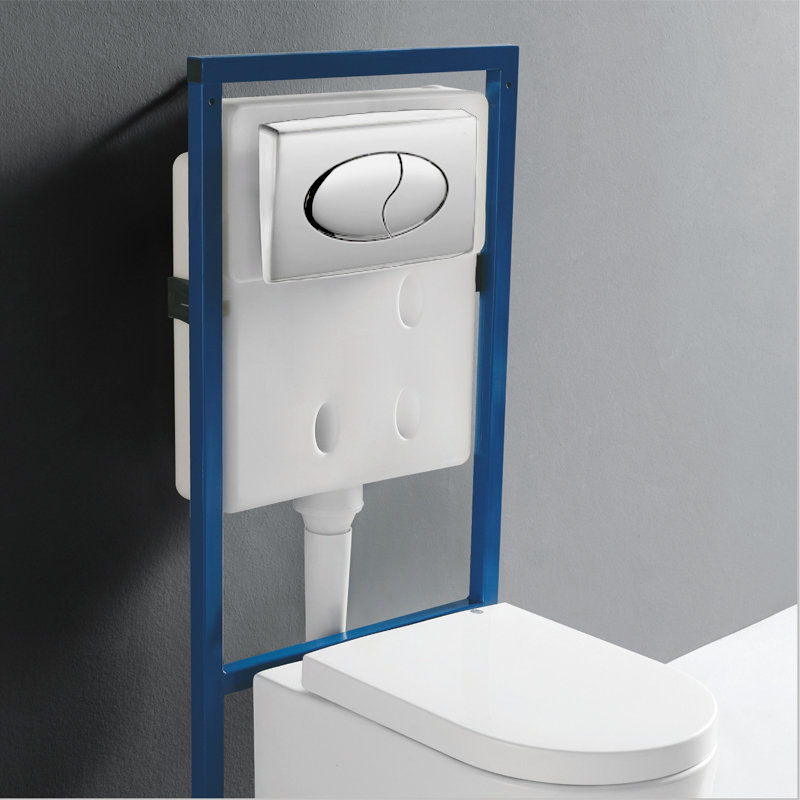 Europa Wall Hung Concealed Wc Toilet Frame Amp Chrome Cover