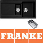 View Item Franke Maris 1.5 Bowl Granite Graphite Black Kitchen Sink & Waste MRG651