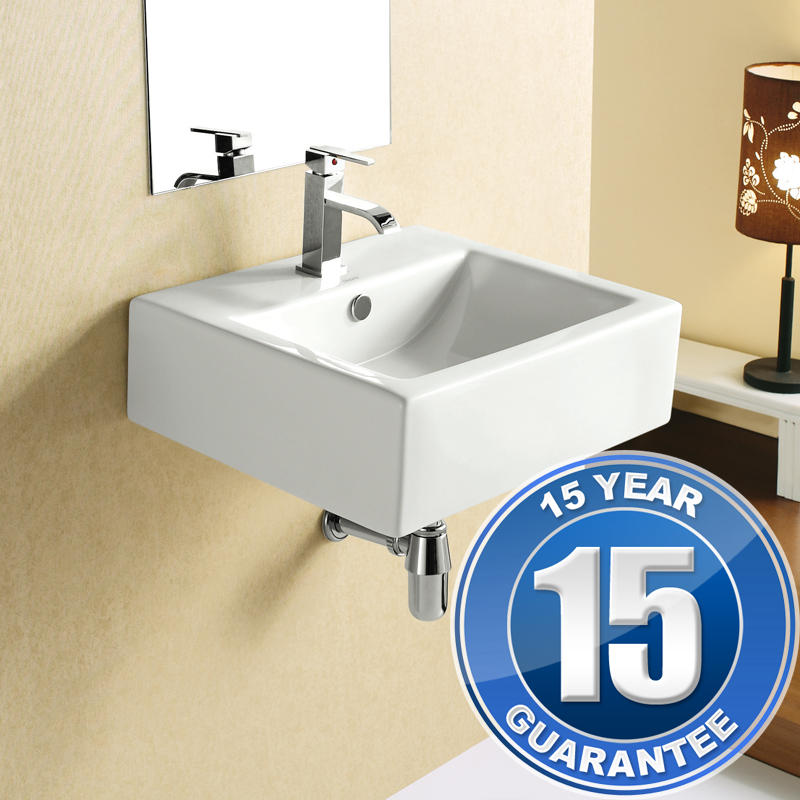 View Item Europa Luna 1TH Comtemporary Ceramic Bathroom Basin Sink 4034