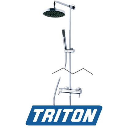 Triton Thames UnichromeBar Mixer Shower with Diverter Preview