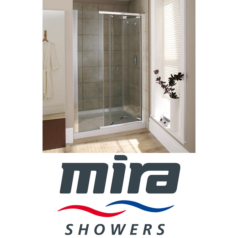 View Item Mira Flight SFE Bi-fold Shower Door 1000mm