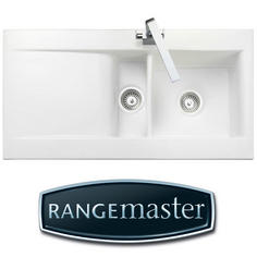 View Item Rangemaster Nevada 1.5 Bowl White Ceramic Kitchen Sink & Waste CNV2WH