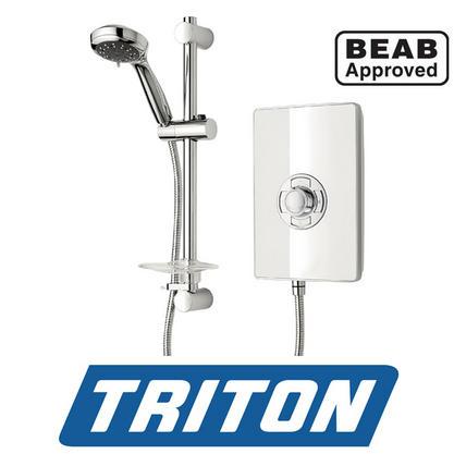 TRITON ASPIRANTE BRUSHED STEEL ELECTRIC SHOWER 95 KW