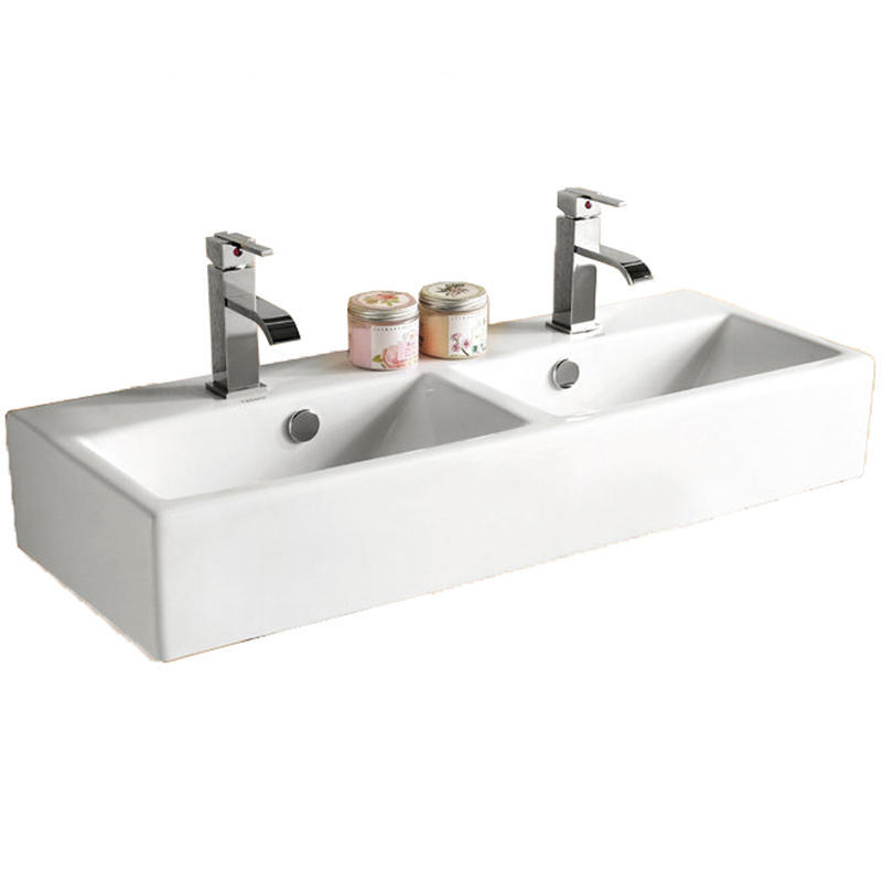 View Item Europa Santana 2TH Contemporary Ceramic Counter Top Bathroom Basin Sink 4128D