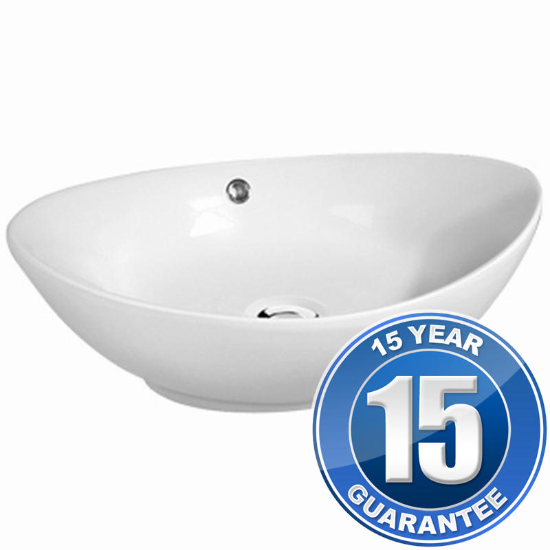 View Item Europa Karl 0TH White Ceramic Counter Top Bathroom Basin Sink A92