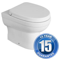View Item Pure Back To Wall P Trap Toilet Pan &amp; Soft Close Toilet Seat