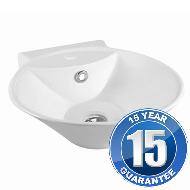 View Item Europa Garda 1TH White Ceramic Counter Top Bathroom Basin Sink A79