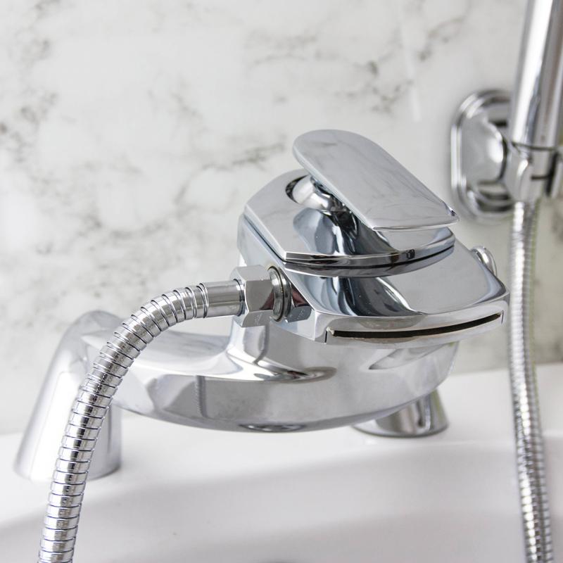 taps uk dream waterfall bathroom bath shower mixer tap pillar