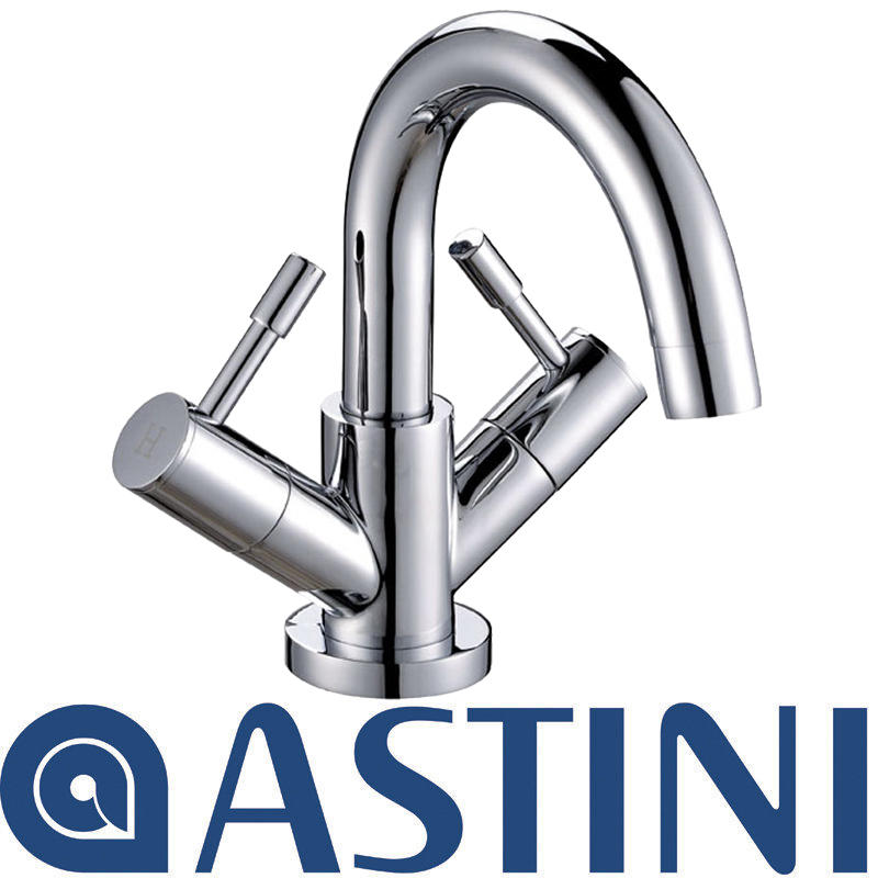 View Item ASTINI Esprit Chrome Swan Neck Bathroom Basin Mixer Tap W009A