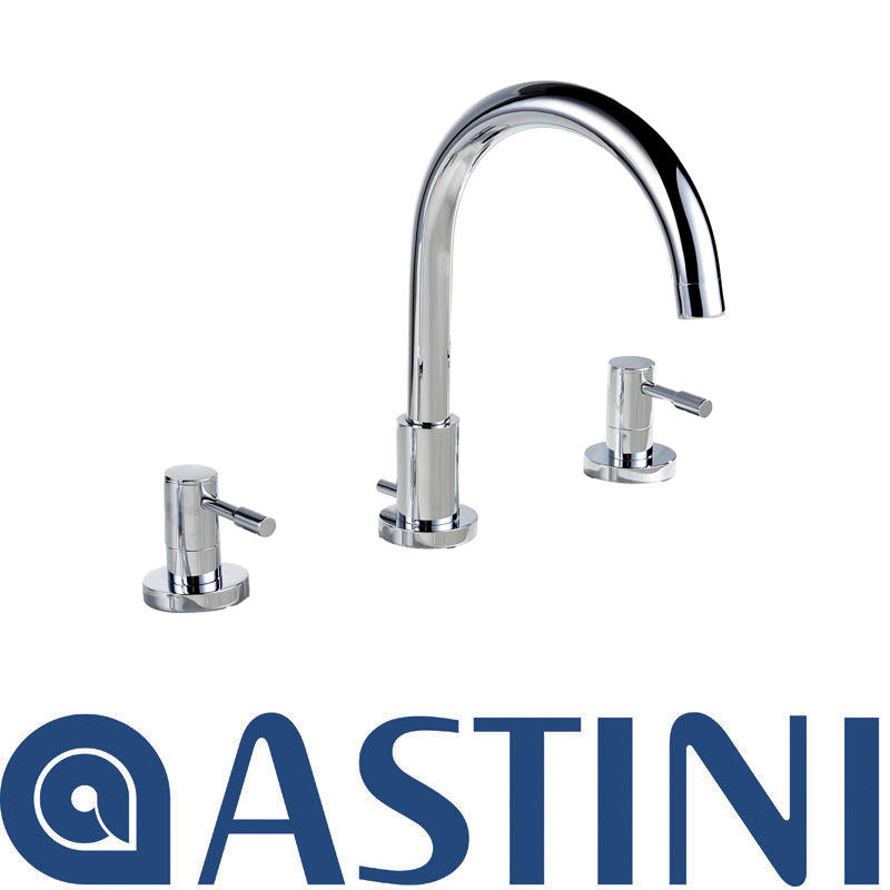 View Item ASTINI Esprit Chrome 3 Hole Bathroom Bath Mixer Tap W049
