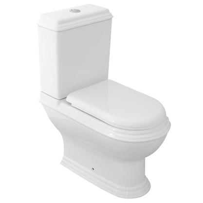 Westminster Close Couple P Trap Toilet Pan & Cistern Inc Soft Close Toilet Seat