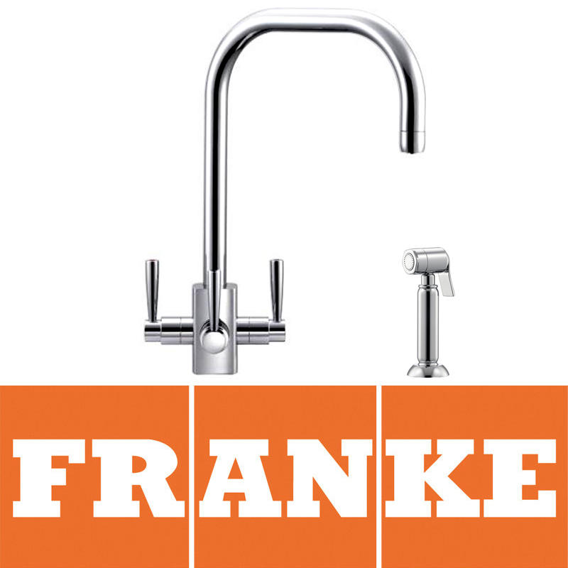 View Item Franke Filterflow Kubus Chrome Kitchen Sink Mixer Tap & Side Spray