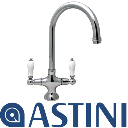 ASTINI Phoenician Traditional Chrome Twin Lever Kitchen Sink Mixer Tap CF24C Preview