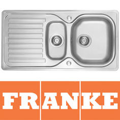 View Item Franke Elba 1.5 Bowl Polished Stainless Steel Kitchen Sink & Waste ELN651