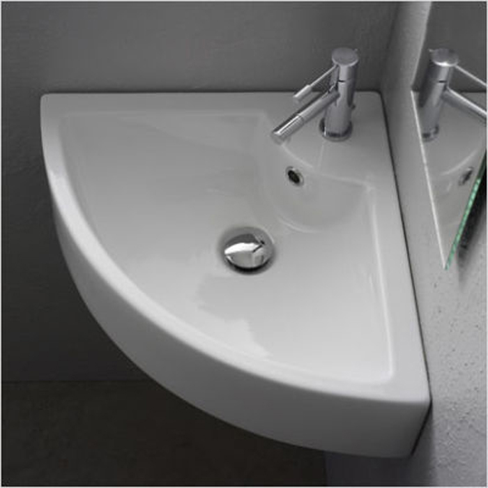 Corner Basin : ... 1TH Contemporary Ceramic Bathroom Wall Hung Corner Basin Sink 4053