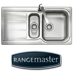 View Item Rangemaster Glendale 1.5 Bowl Brushed Stainless Steel Kitchen Sink GL9502