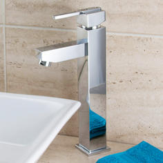 View Item ASTINI Wave Chrome Bathroom Tall Basin Mixer Tap F029F