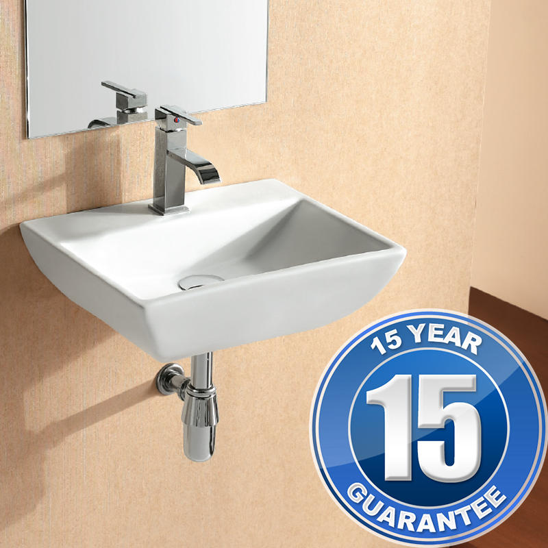 View Item Europa Chester 1TH Contemporary Ceramic Bathroom Wall Hung Basin Sink 4318