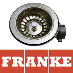 View Item Franke 90mm Polished Steel Kitchen Sink Basket Strainer Waste 112.0036.234