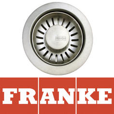 View Item Franke 90mm Silk Stainless Steel Kitchen Sink Basket Strainer Waste AH303489