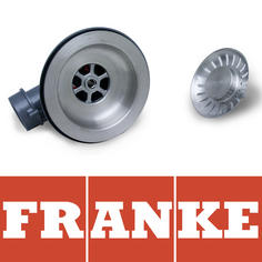 View Item Franke 90mm Silk Stainless Steel Kitchen Sink Basket Strainer Waste AH303490