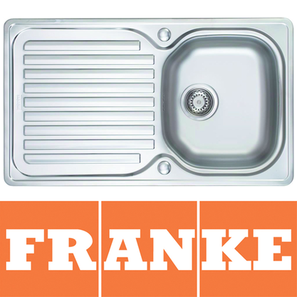 Franke Elba 1.0 Bowl Polished Stainless Steel Kitchen Sink &amp; Waste ELN611 Preview