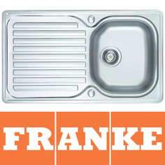 View Item Franke Elba 1.0 Bowl Polished Stainless Steel Kitchen Sink &amp; Waste ELN611