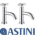 View Item ASTINI Orpheus Chrome Hot & Cold Bathroom Basin Sink Taps HB18