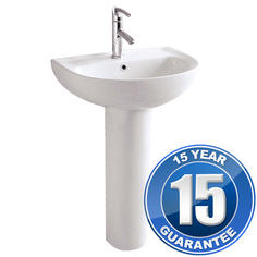 View Item Europa Pacific Contemporary Ceramic Pedestal Bathroom Basin Sink 3027