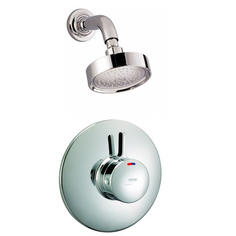 View Item Mira Select BIR Chrome Thermostatic Built In Rigid Valve &amp; Fixed Shower Head