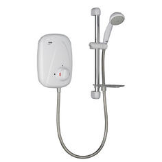 View Item Mira Vigour Manual Power Shower White &amp; Chrome