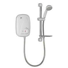 View Item Mira Vigour Thermostatic Power Shower White &amp; Chrome
