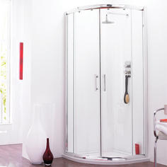 View Item Pacific Quadrant Corner Shower Enclosure &amp; Tray 900mm x 900mm