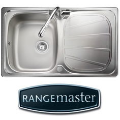 View Item Rangemaster Baltimore Compact 1.0 Bowl Brushed Stainless Kitchen Sink BL8001