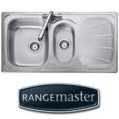 View Item Rangemaster Baltimore 1.5 Bowl Brushed Stainless Steel Kitchen Sink BL9502