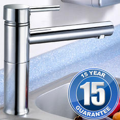 View Item Kadaya Chrome Single Lever Swivel Spout Kitchen Sink Mixer Tap T3004