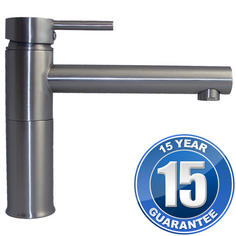 View Item Kadaya Brushed Steel Kitchen Sink Swivel Spout Mixer Tap T3004BS