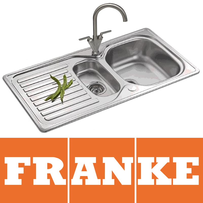 Franke Elba 1.5 Bowl Polished Stainless Steel Kitchen Sink & Mixer Tap ...