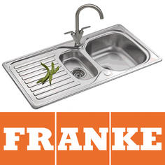 View Item Franke Elba 1.5 Bowl Polished Stainless Steel Kitchen Sink, Waste & Tap ELN651