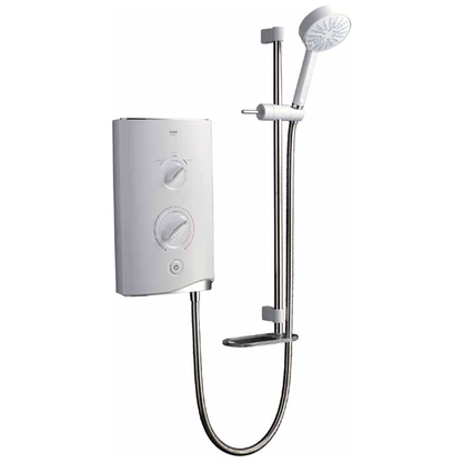 Mira Sport White and Chrome 7.5kW Electric Bathroom Shower Preview