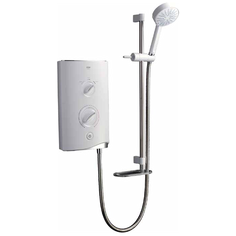 View Item Mira Sport White and Chrome 9.8kW Electric Bathroom Shower